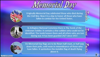 Memorial Day: Triple True Facts and Double Daily Worksheets Sample Pack