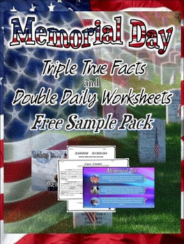Memorial Day: Triple True Facts and Double Daily Worksheet