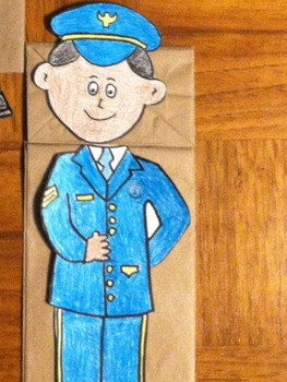 Memorial Day US Air Force Boy and Girl Puppet