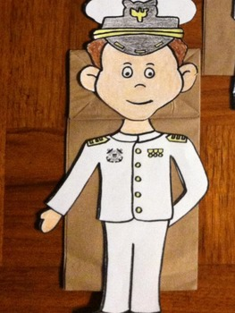 Memorial Day US Coast Guard Boy and Girl Puppet