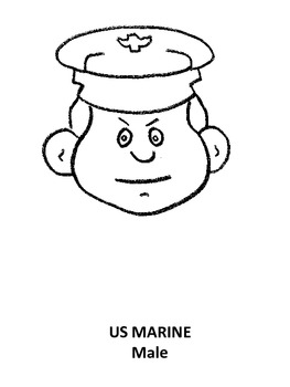 Memorial Day US Marine Boy and Girl Puppet
