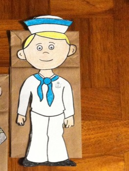 Memorial Day US Navy Boy and Girl Puppet