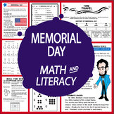 Memorial Day Math & Literacy National Holidays, Lesson + Memorial Day Activities