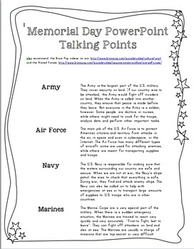 Memorial Day Unit: mini book activity and PowerPoint presentation