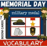Memorial Day VOCABULARY - Boom Cards Distance Learning NO PRINT