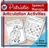 Memorial Day Articulation Speech Therapy Activities - Distance Learning