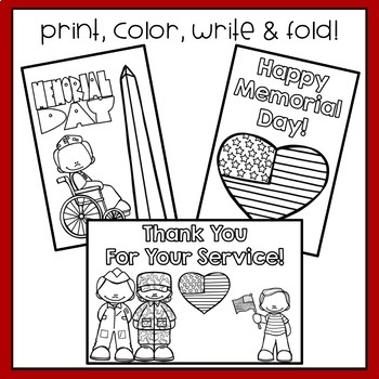 Memorial Day & Veterans Day Cards/Letters