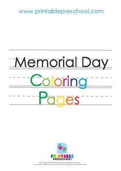 Memorial Day / Veterans Day Coloring Pages