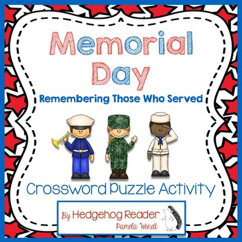 Memorial Day Vocabulary Crossword Puzzle Activity