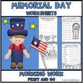 Memorial Day  Worksheets Print and Go Morning Work