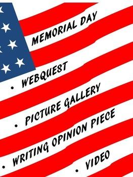 Memorial Day: Webquest, Flag Activity, Persuasive Writing