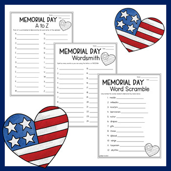 Memorial Day Word Games