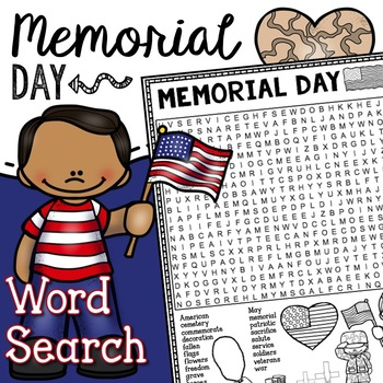 Memorial Day Word Search Activity