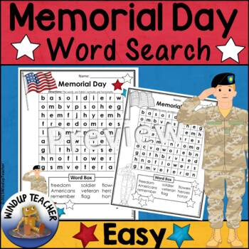 Memorial Day Word Search * EASY