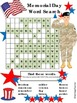 Memorial Day Word Search * HARD