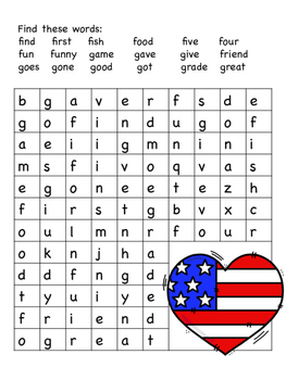 Memorial Day Word Search Puzzles