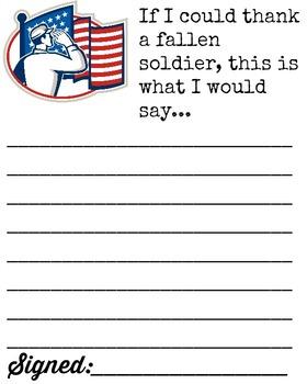 Memorial Day Writing