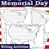 Memorial Day Writing Activities | Memorial Day Writing Prompts