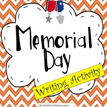 Memorial Day Writing Activity