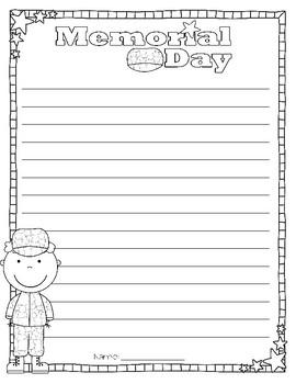 Memorial Day Writing & Craftivity