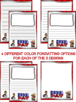 Memorial Day Writing Paper--Memorial Day Writing Stationary--DIFFERENTIATED