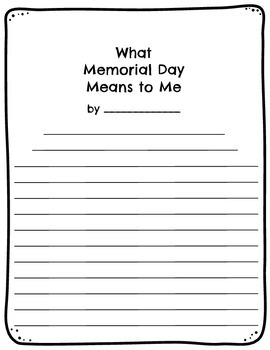 Memorial Day Writing Prompt
