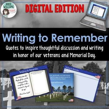 Memorial Day Writing Prompts - Google Edition