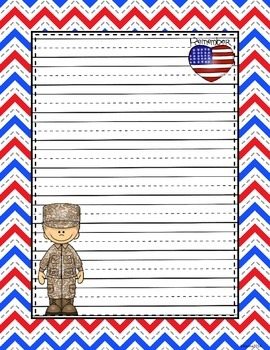 Veterans/Memorial Day Writing Sheets
