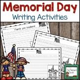 Memorial Day and Flag Day Writing Prompts Grades K-2