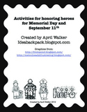 Memorial Day and September 11 Quilt Squares & Hero Activities