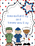 Memorial Day or Veterans Day Reading and Writing Activities