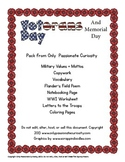 Memorial Day and Veterans Day Unit Study Pack