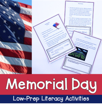 Memorial Day for Grades 4-6 With Literacy Activities