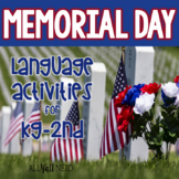 Memorial Day for Speech & Language Therapy - Categories and Matching