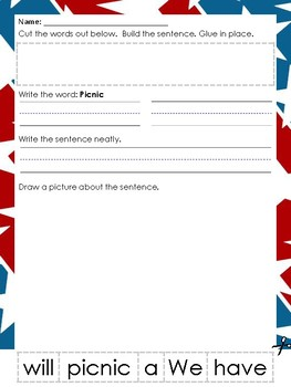 Memorial Day themed Worksheets
