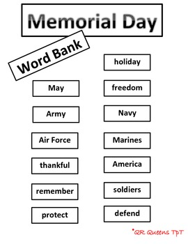 Memorial Day using QR Codes