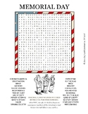 Memorial Day Word Search Worksheets & Teaching Resources | TpT
