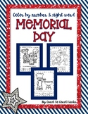 Memorial Day Color by Numbers and Sight Words