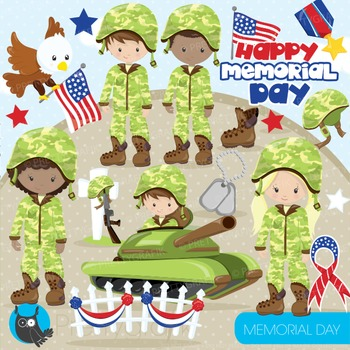 Memorial day clipart commercial use, graphics, digital clip art - CL865