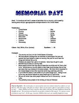 Memorial or Veteran's Day