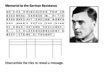 Memorial to German Resistance - Operation Valkyrie Message Puzzle