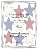 Memorial/Veteran's Day Biography Research Project