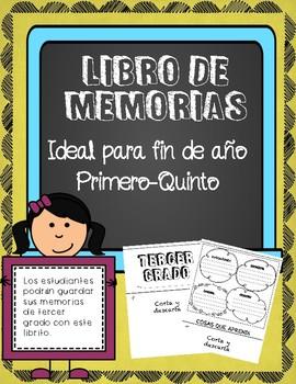Memorias de fin de año / End of Year Memory Book in Spanish