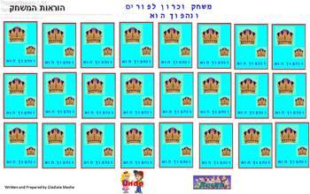 Memorie game for Purim ve-na-hafoch hoo.