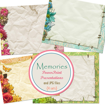 Memories PowerPoint Presentations and Printable Digital Paper - 24 Slides