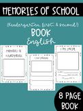 Memories of School book English- Kindergarten, First, Seco