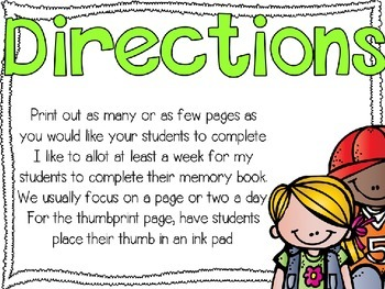 Memories of Me {A Kindergarten/First Grade Memory Book}