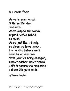 Memory Book Memories of a Great School Year!