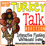 Brain Break Memorization in Motion Addition for Thanksgiving