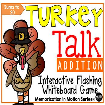 Memorization in Motion Addition- Turkey Talk Thanksgiving Edition